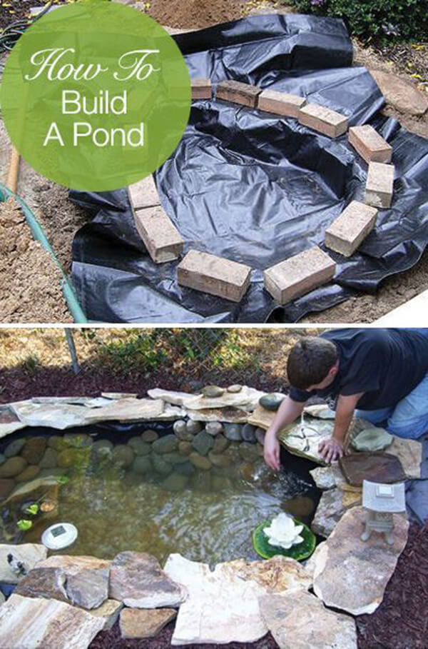 18 best diy backyard pond ideas and designs for 2018 for Homemade pond ideas