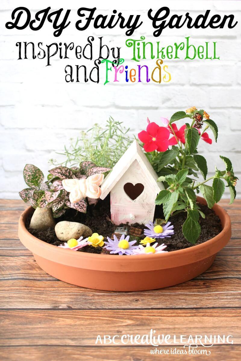 Tiny DIY Tinkerbell Garden