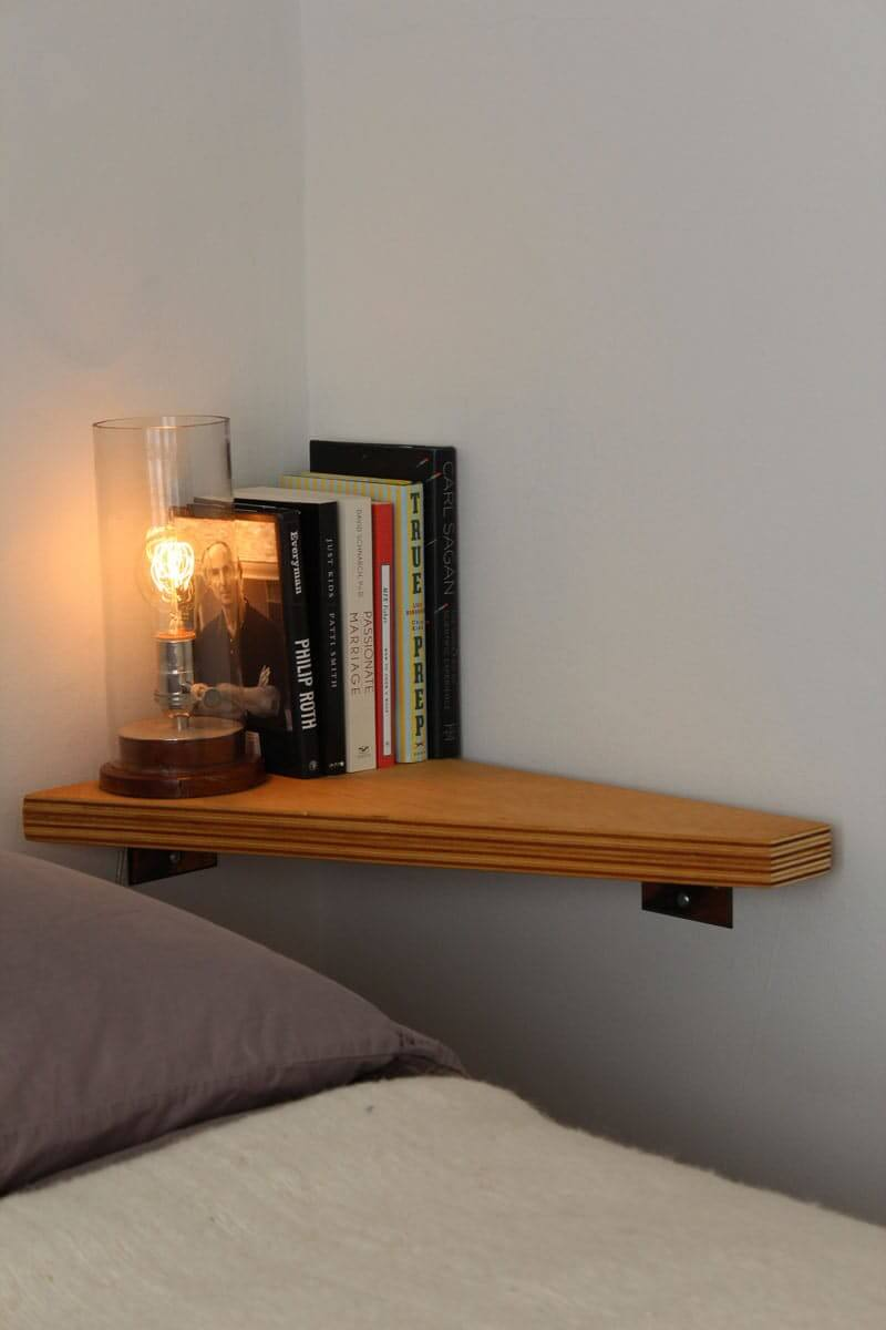 A Corner Night Stand with Light