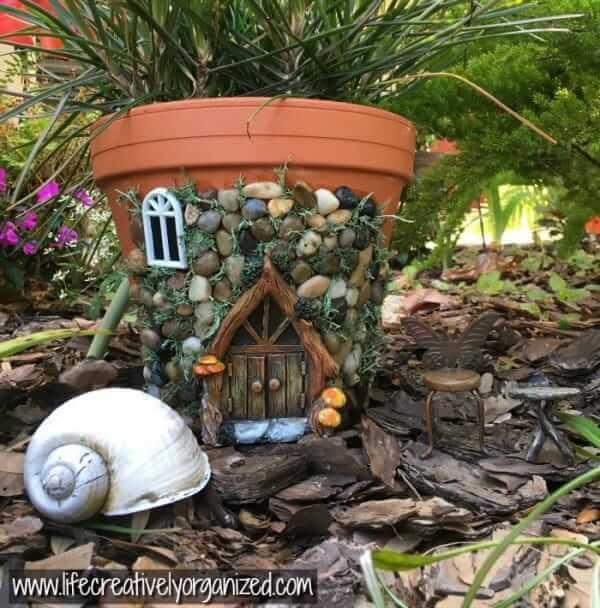DIY Stone Cottage Terracotta Pot