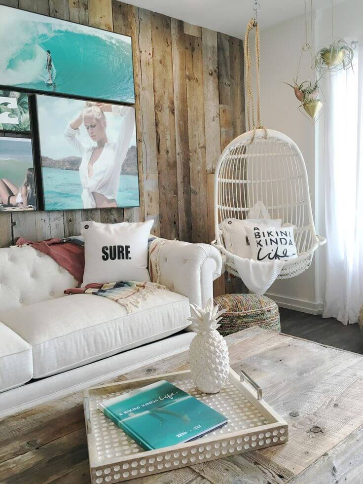 7. Wood And Turquoise Living Room Inspirations