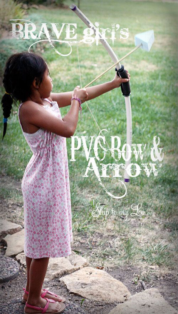 Kid-Friendly PVC Bow and Arrow Set