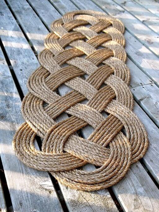 An Infinity Welcome Mat Made from Rope