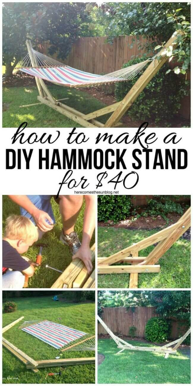 Inexpensive Wooden DIY Hammock Stand