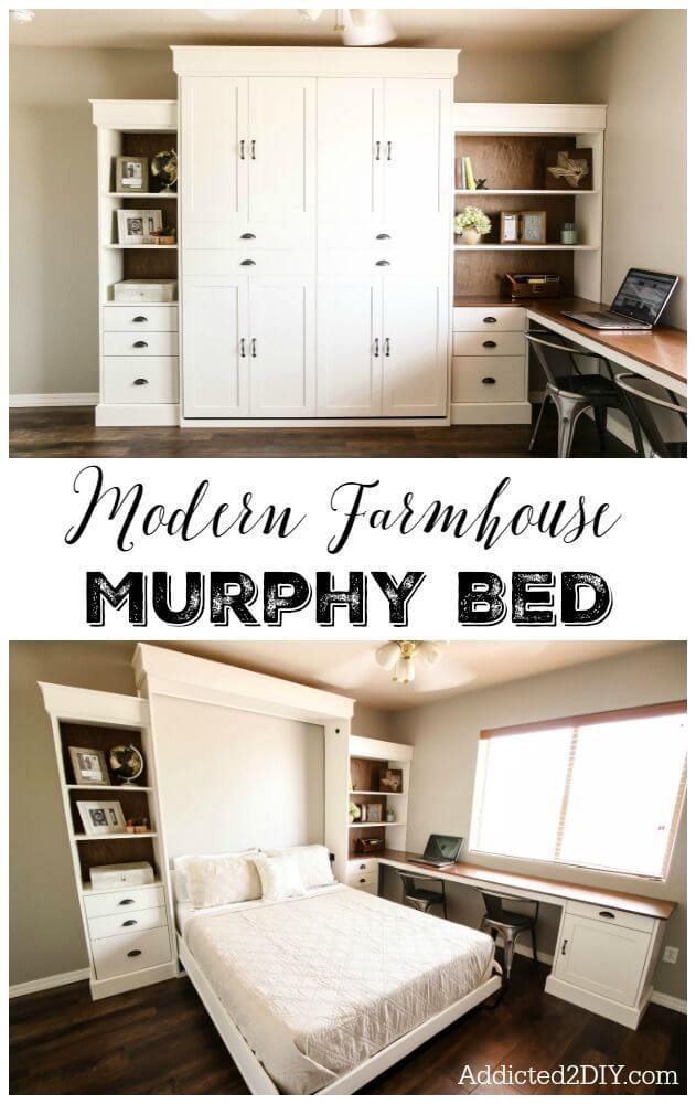 7. A Murphy Bed With Ample Storage Space