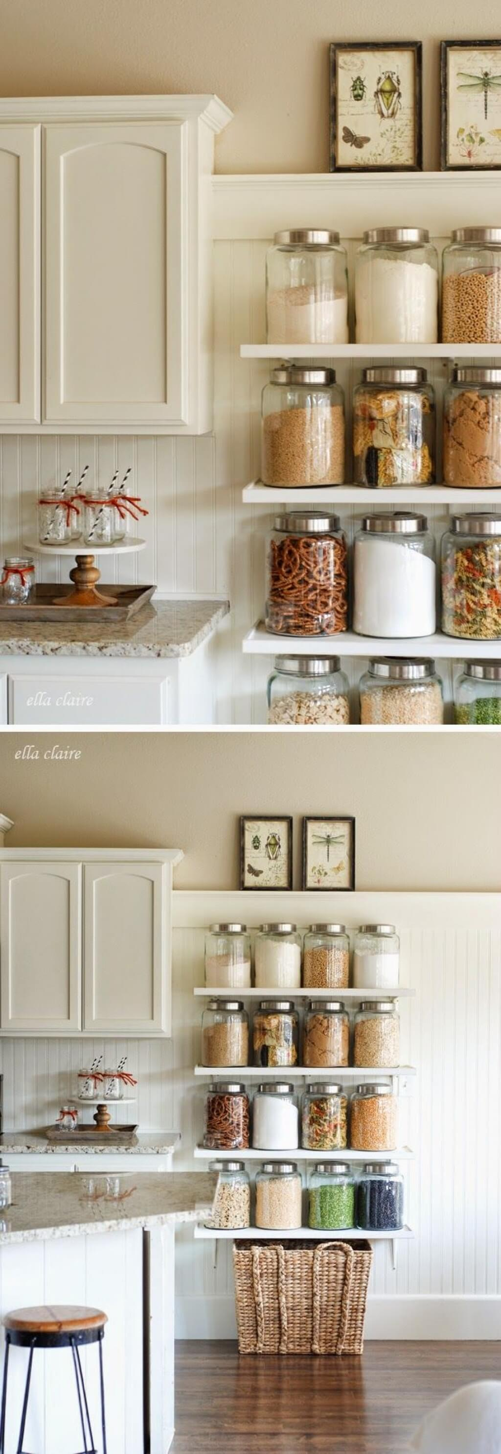 7 shelves for cooking essentials and snacks - Kitchen Organization Ideas