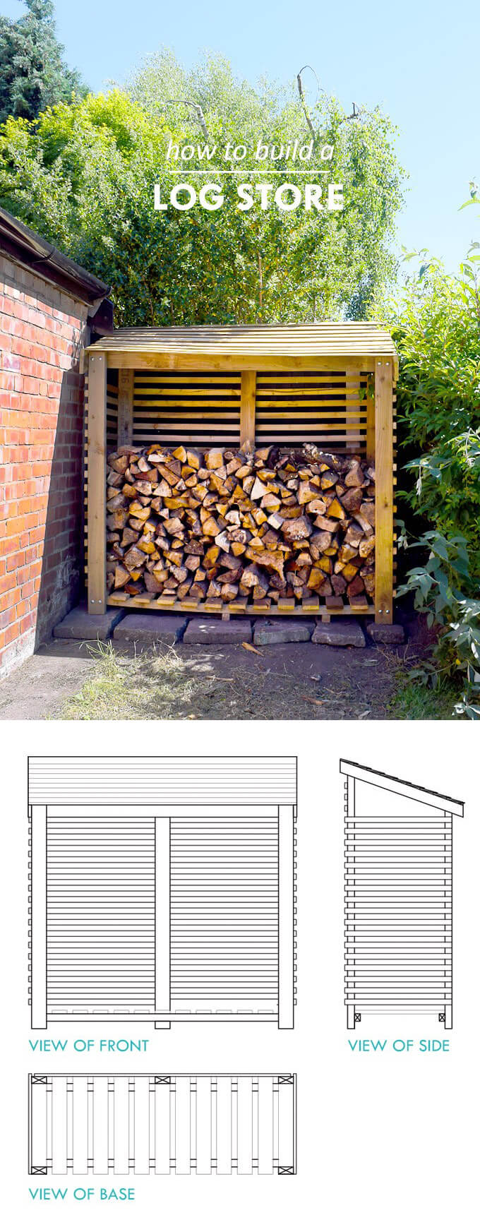 15 Best Diy Outdoor Firewood Rack Ideas And Desigs For 2019