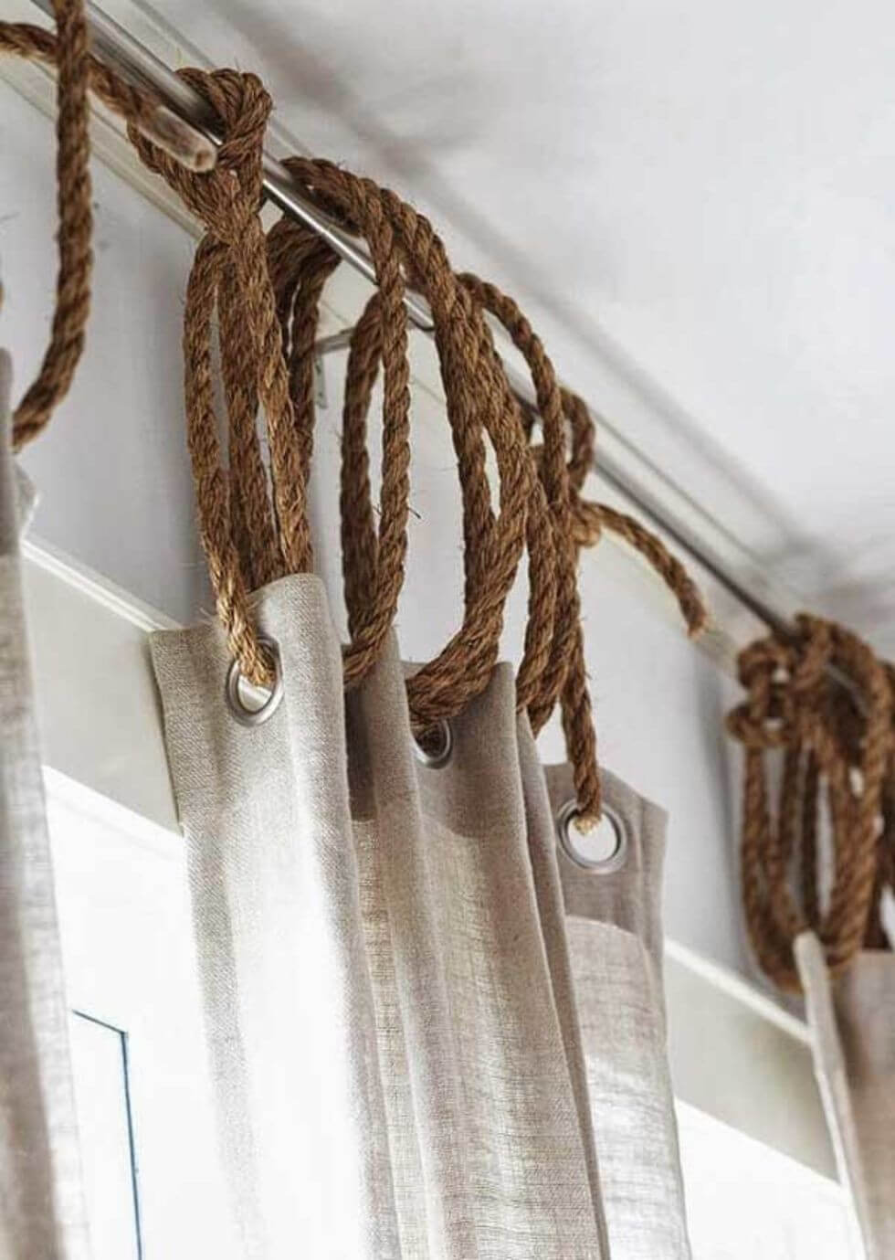 Unique Ideas for Hanging Curtains with Rope