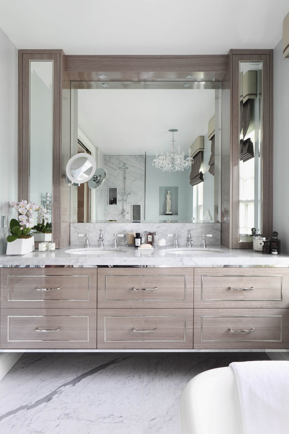 silver accents bathroom - Bathroom Ideas Master