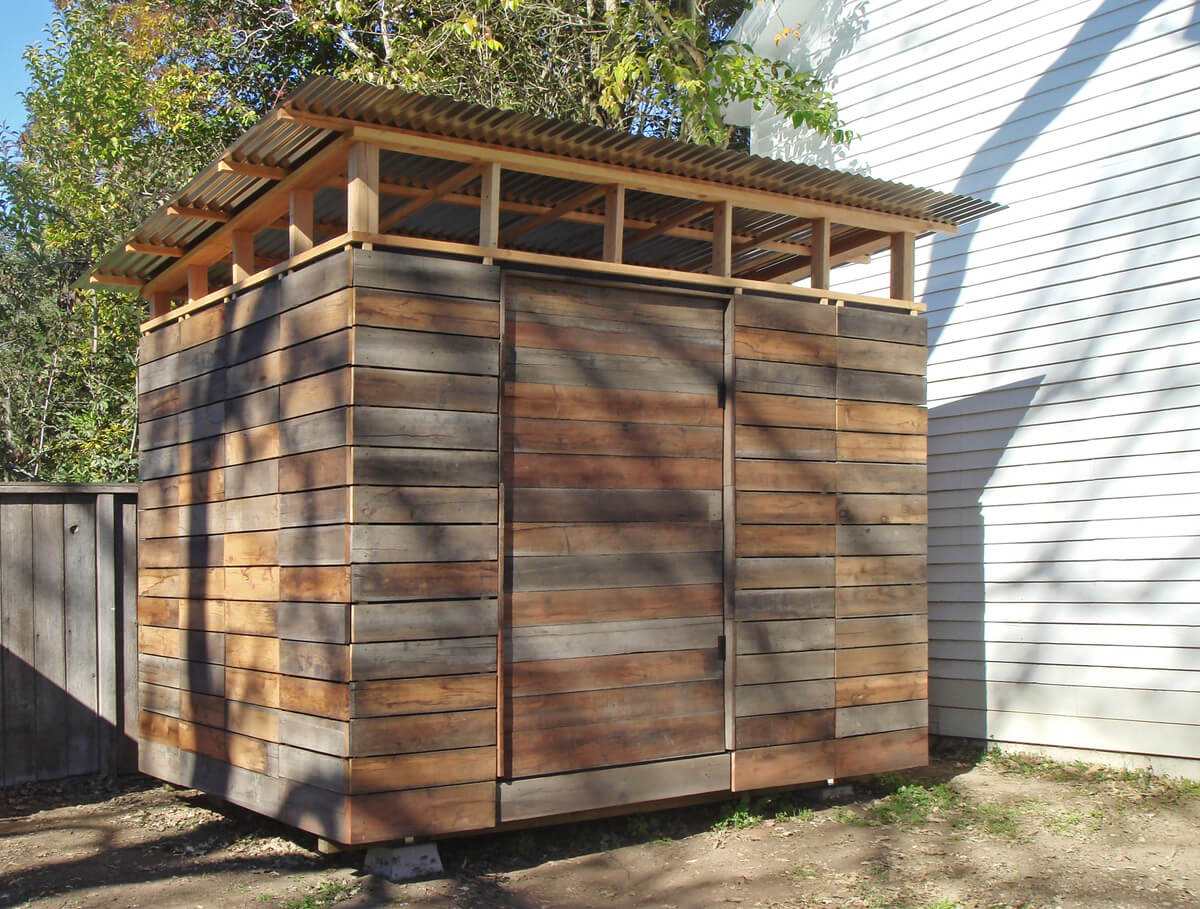 27 best small storage shed projects ideas and designs for Outdoor wood shed