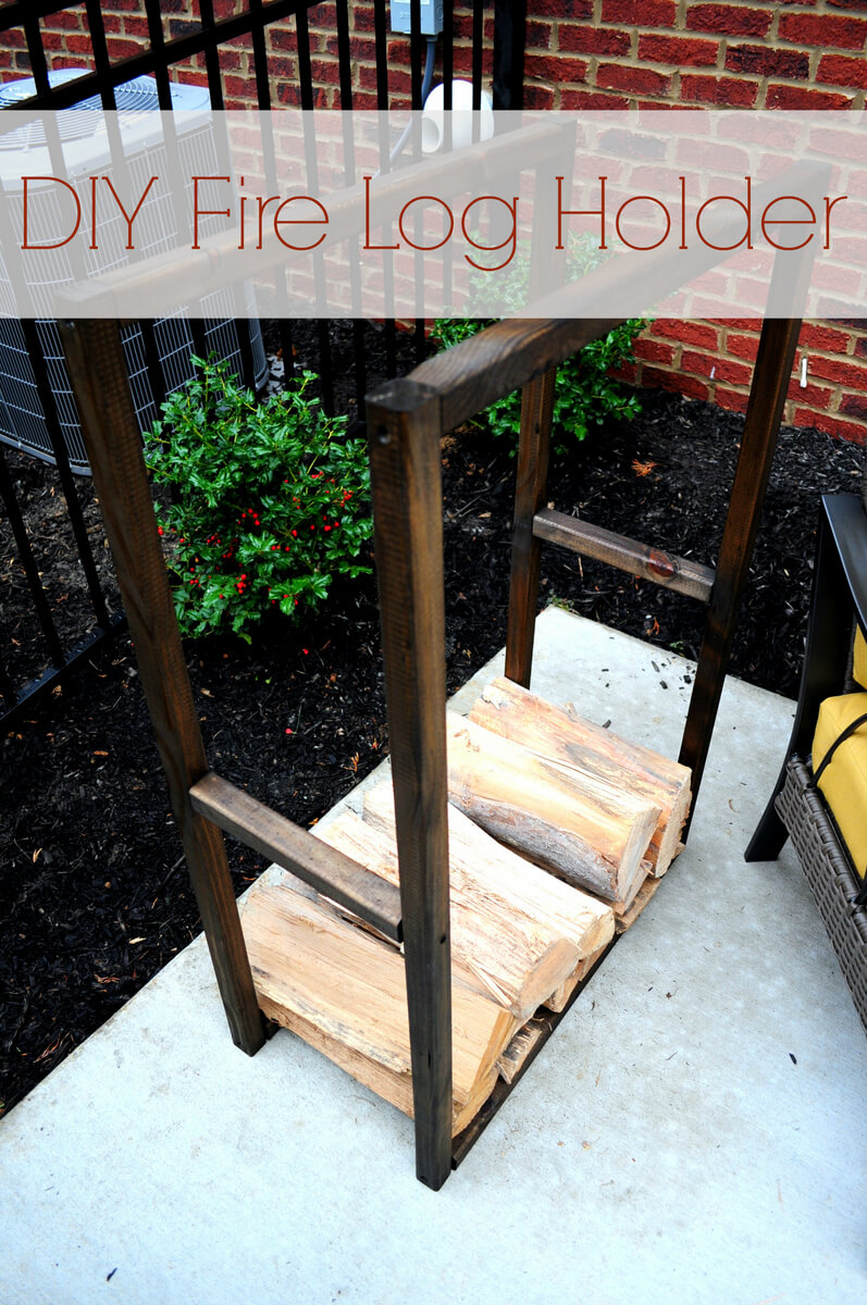 Outdoor Firewood Rack for a Small Space