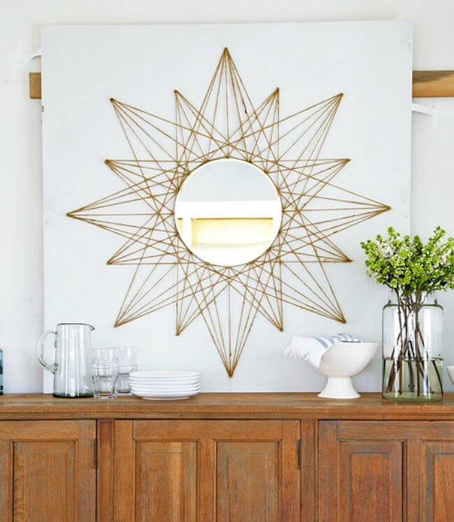 Sun Kissed Rope Design Around a Mirror