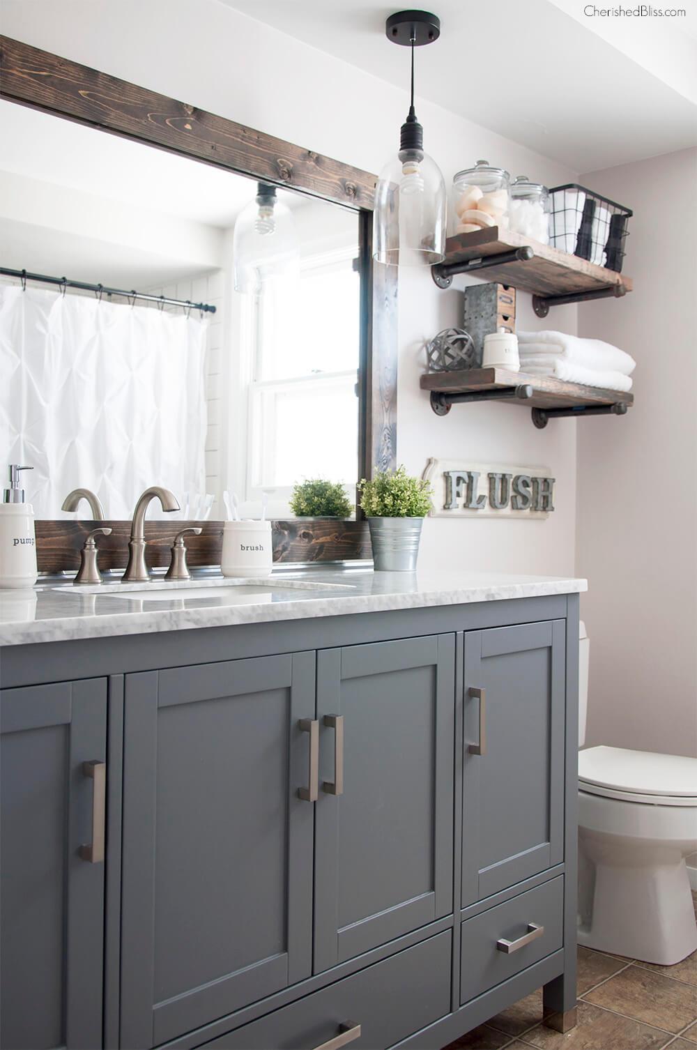 Simple Clean and Rustic Bathroom
