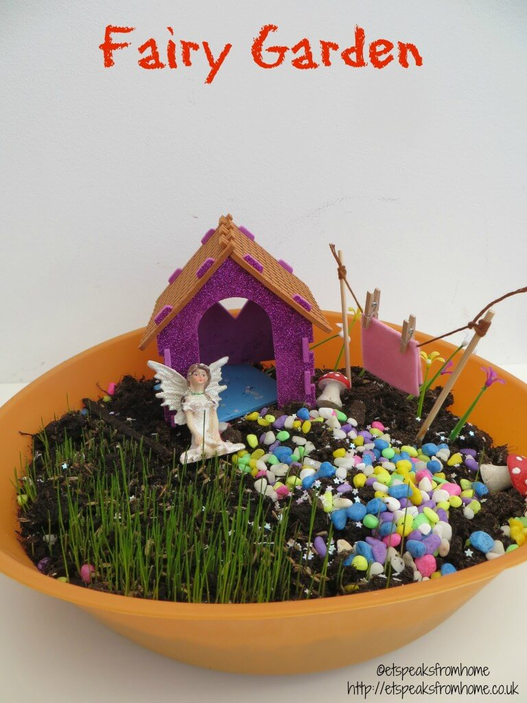 Bright and Colorful Fairy Garden