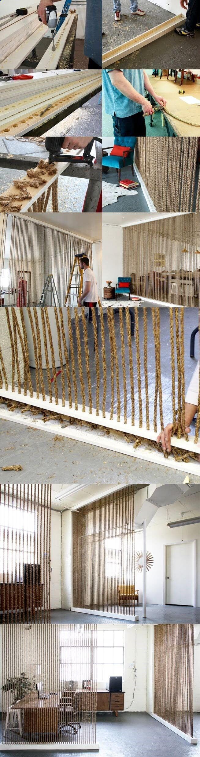 Rope Blinds Designed Create a Wall