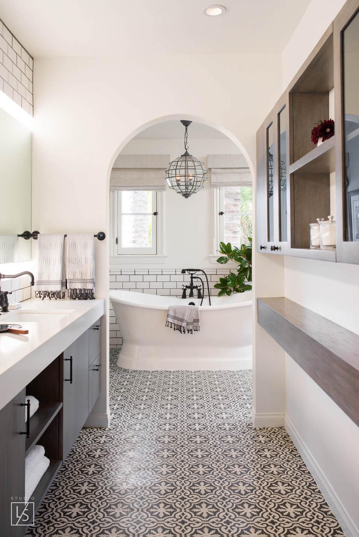 Retro Elegance Bathroom