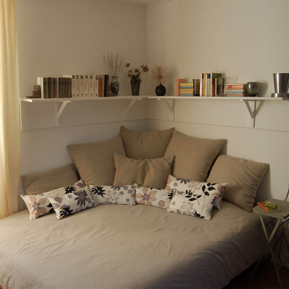 Corner Living with Lots of Pillows