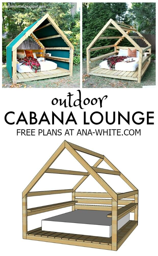 Dreamy DIY Outdoor Cabana Lounge