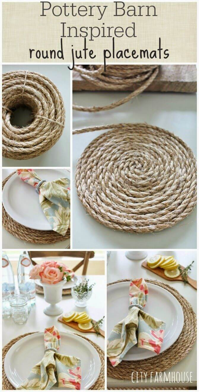 Spiral Rope Placemats for the Kitchen Table