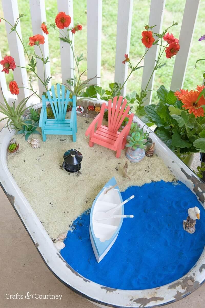 Beachfront Coastal Fairy Garden Oasis