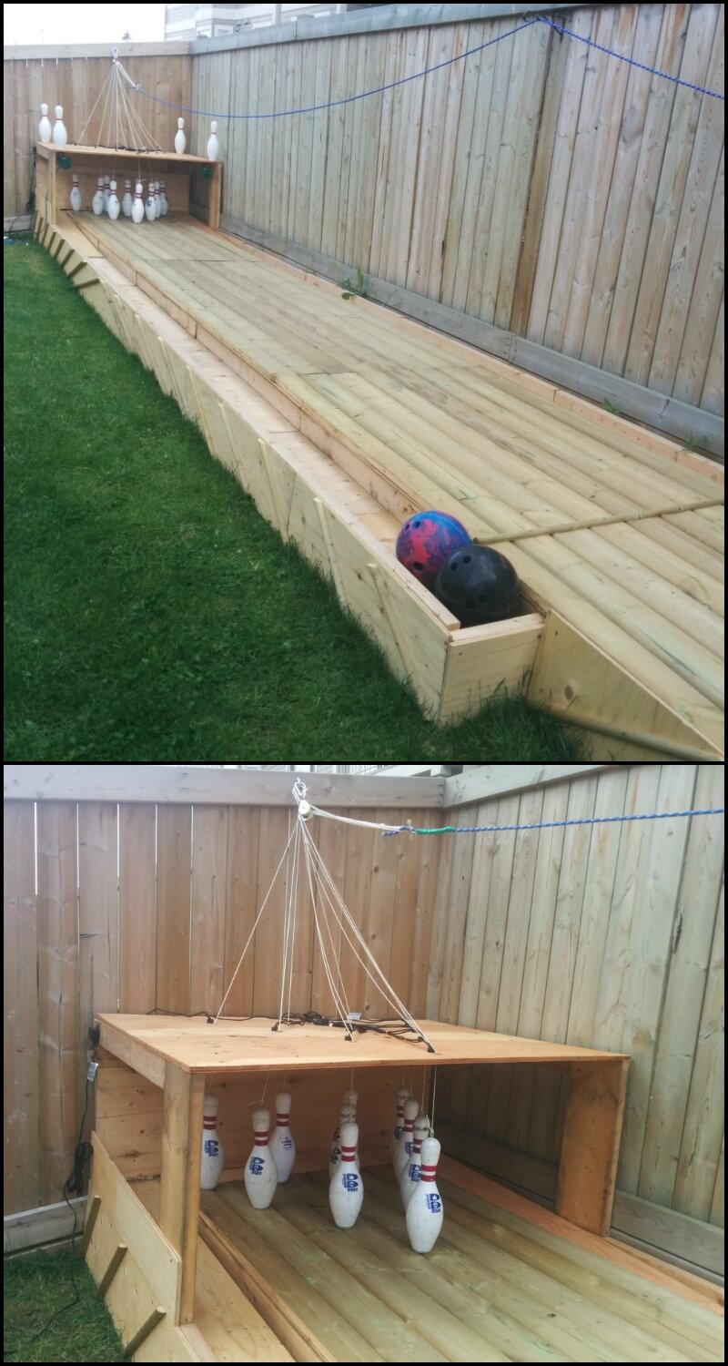 Delightful Incredible Backyard DIY Bowling Lane