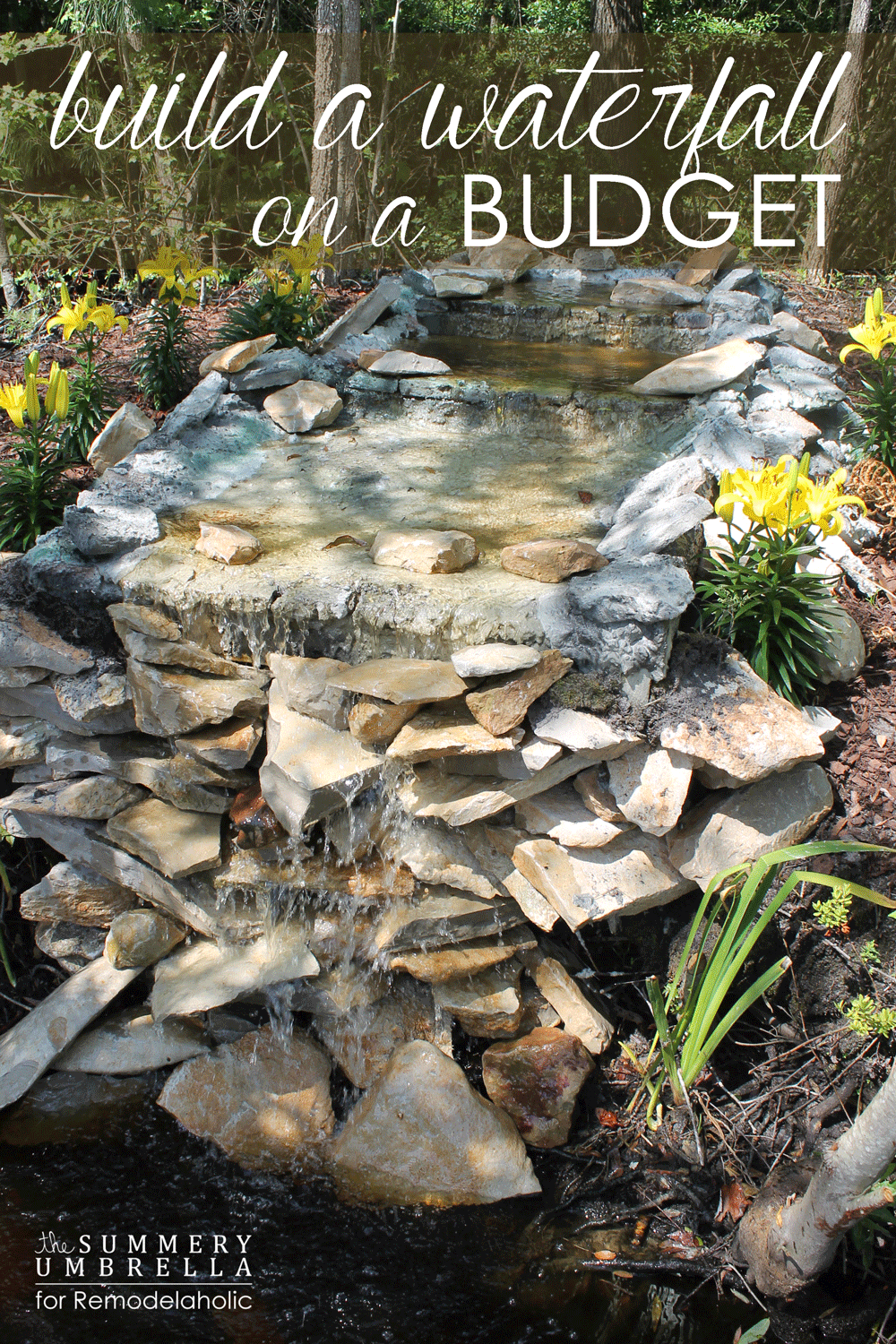 18 best diy backyard pond ideas and designs for 2018 for Backyard pond ideas with waterfall