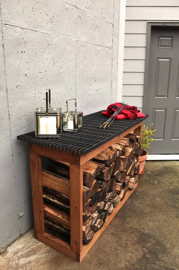 An Outdoor Counter with Storage Space