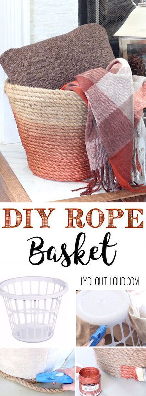 Rope Basket with a Splash of Color