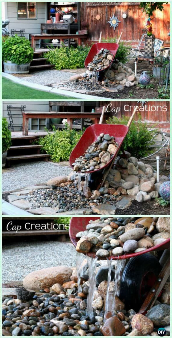 Fun and Fancy Free Wheelbarrow Waterfall