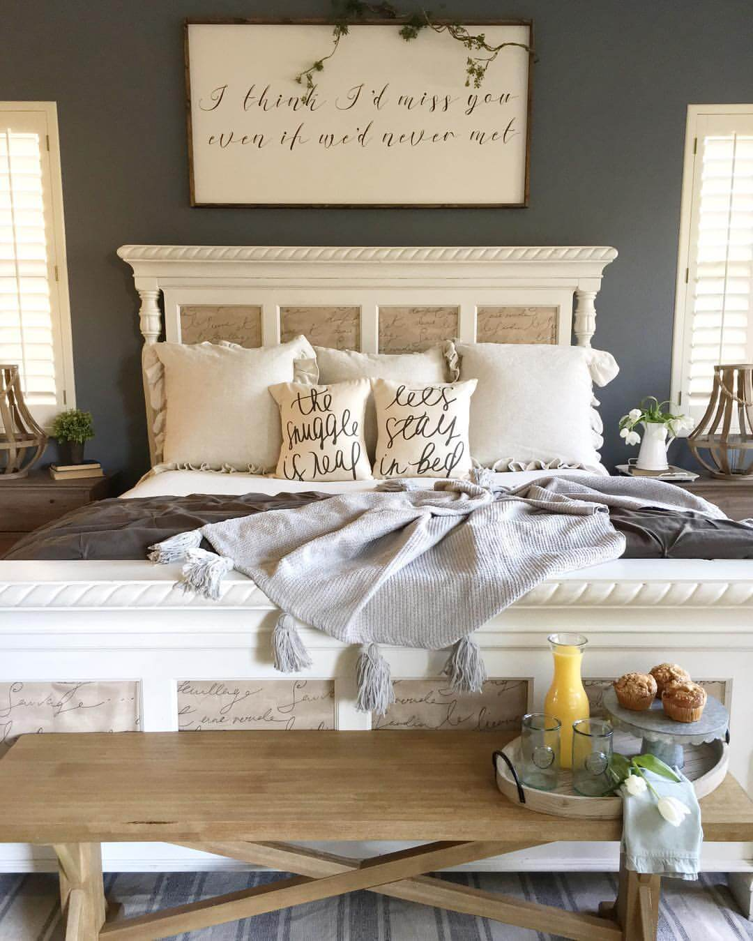 Bedroom Decorating Ideas: 39 Best Farmhouse Bedroom Design And Decor Ideas For 2019