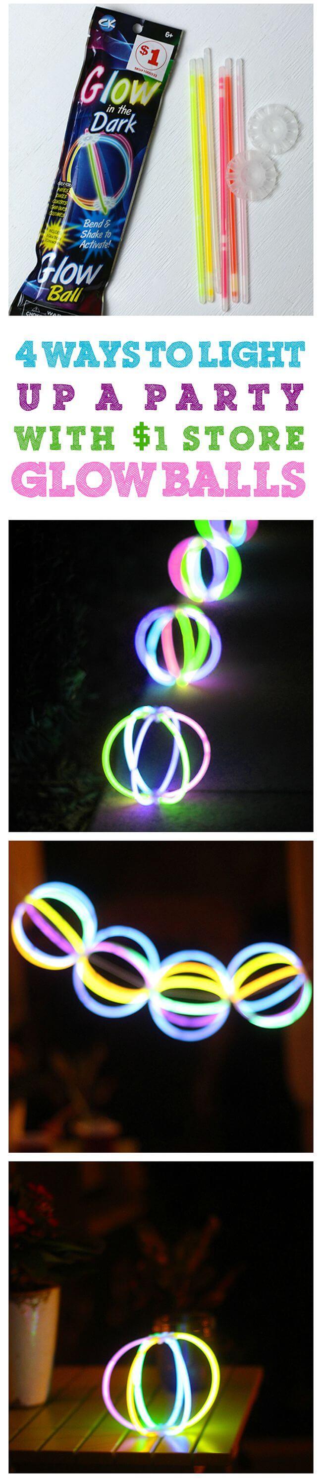 String Together Some Glow Balls Using Glow Sticks