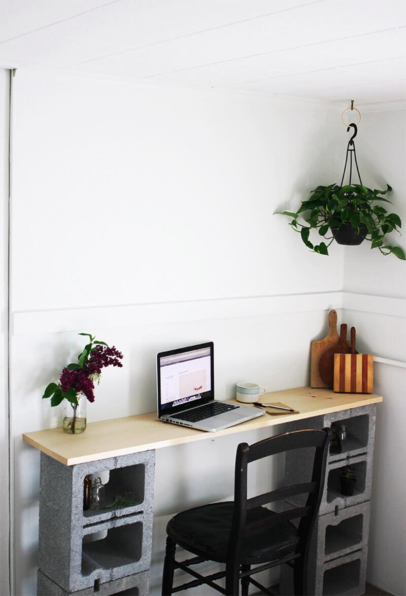 Better than IKEA! Cinder Block Student Desk