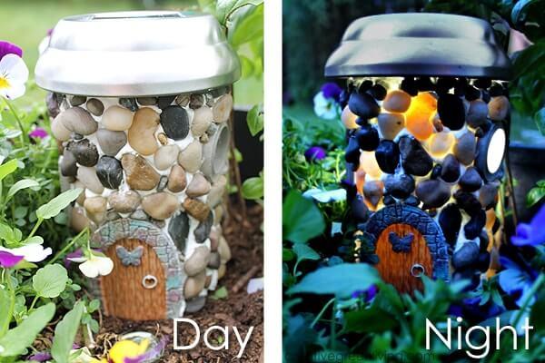 Solar Powered Fairy Garden House