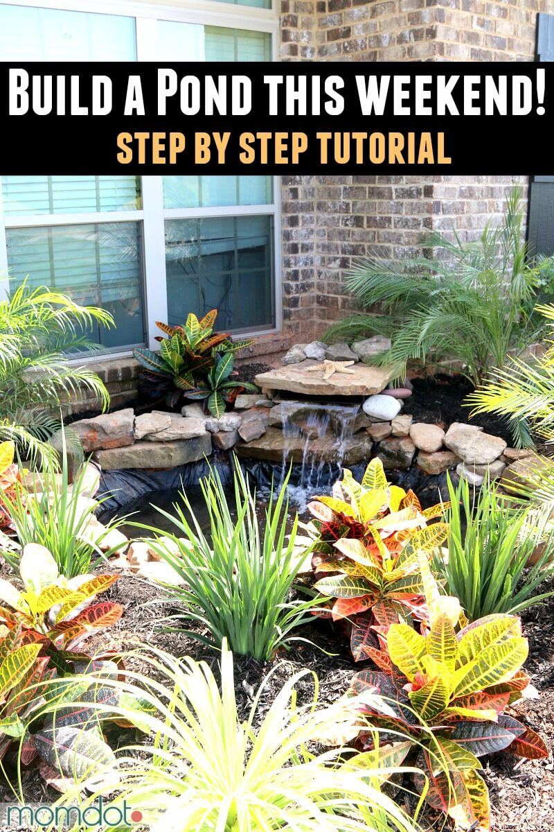 18 best diy backyard pond ideas and designs for 2019 for Easy backyard pond