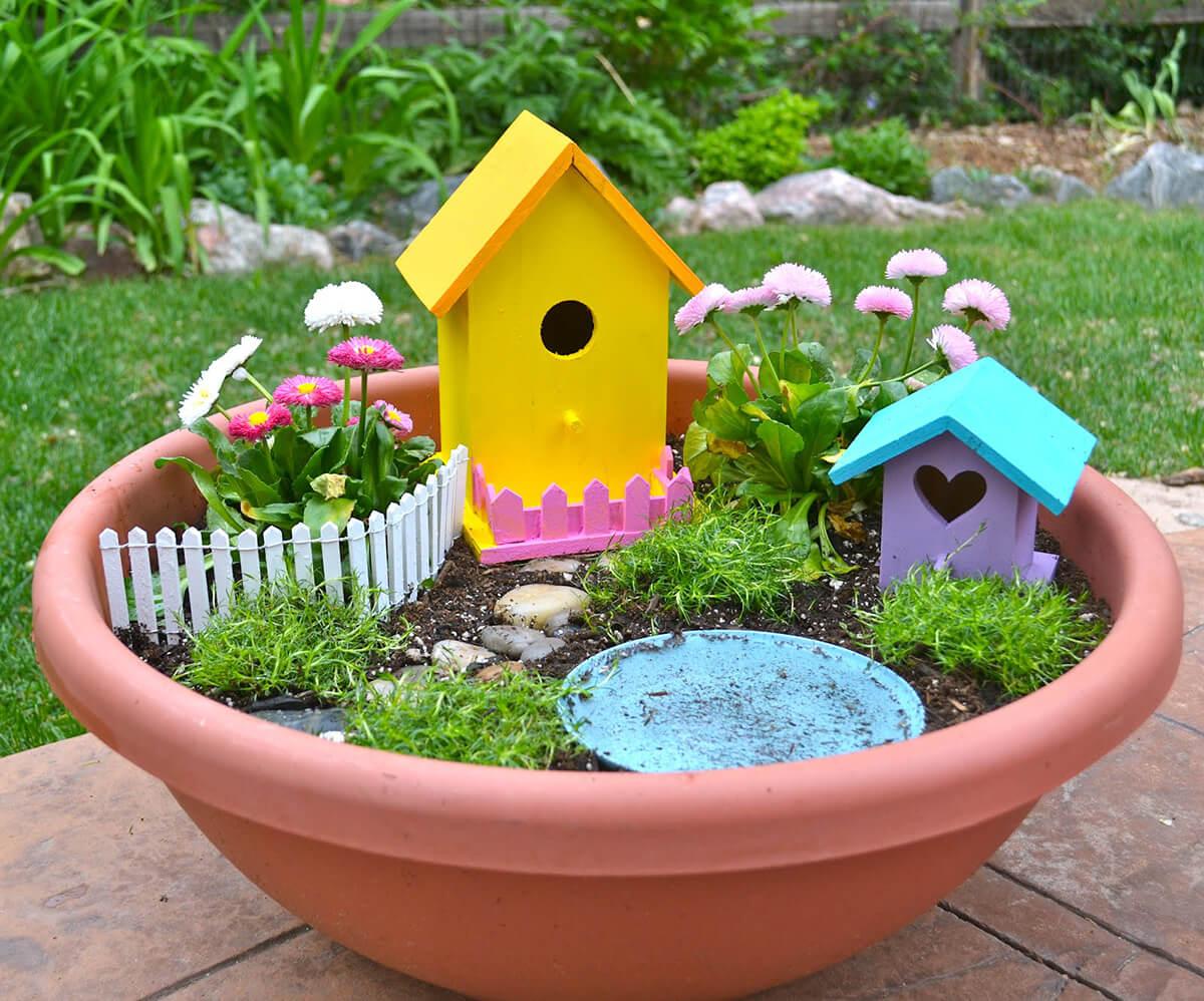 Идеи для украшения сада своими руками фото