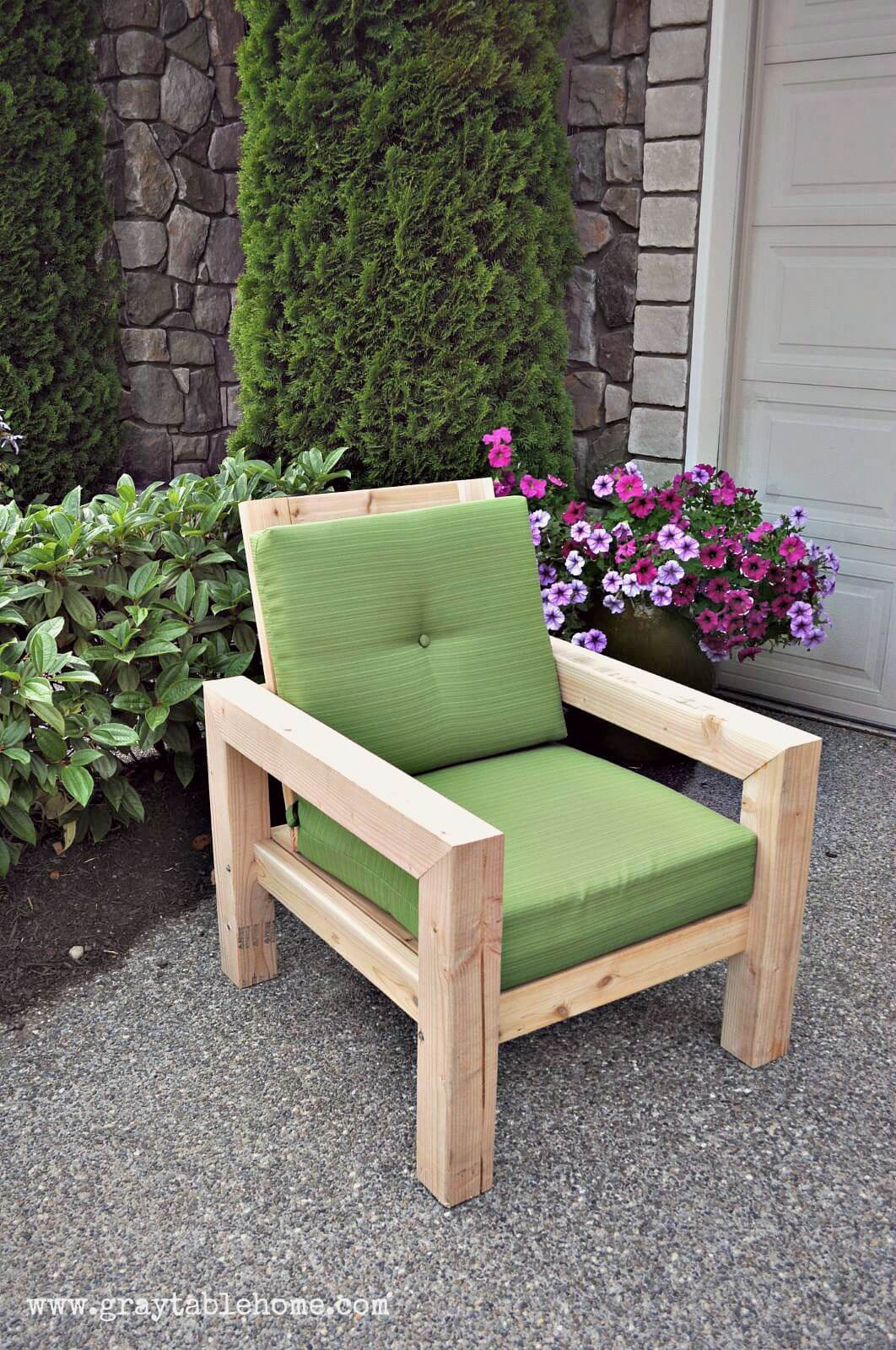garden cubicle wooden block chair