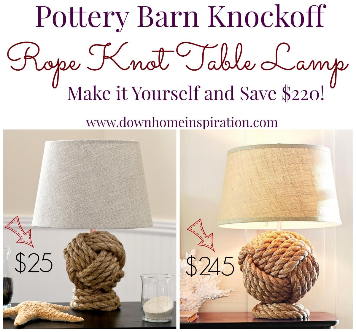 A Lamp with a Knotted Rope Base