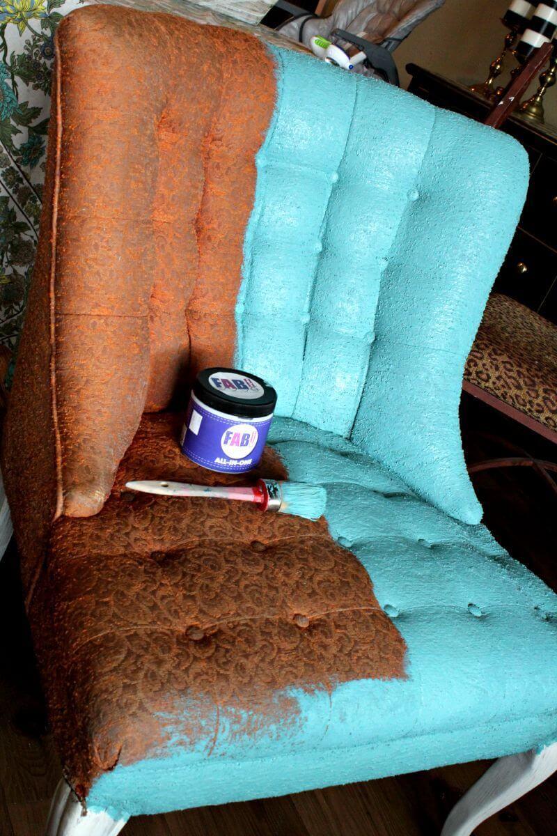 Versailles-Meets-Miami Fabric Chair