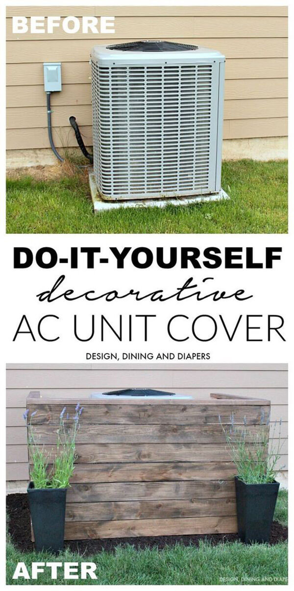 Decorative Air Conditioning Unit Cover