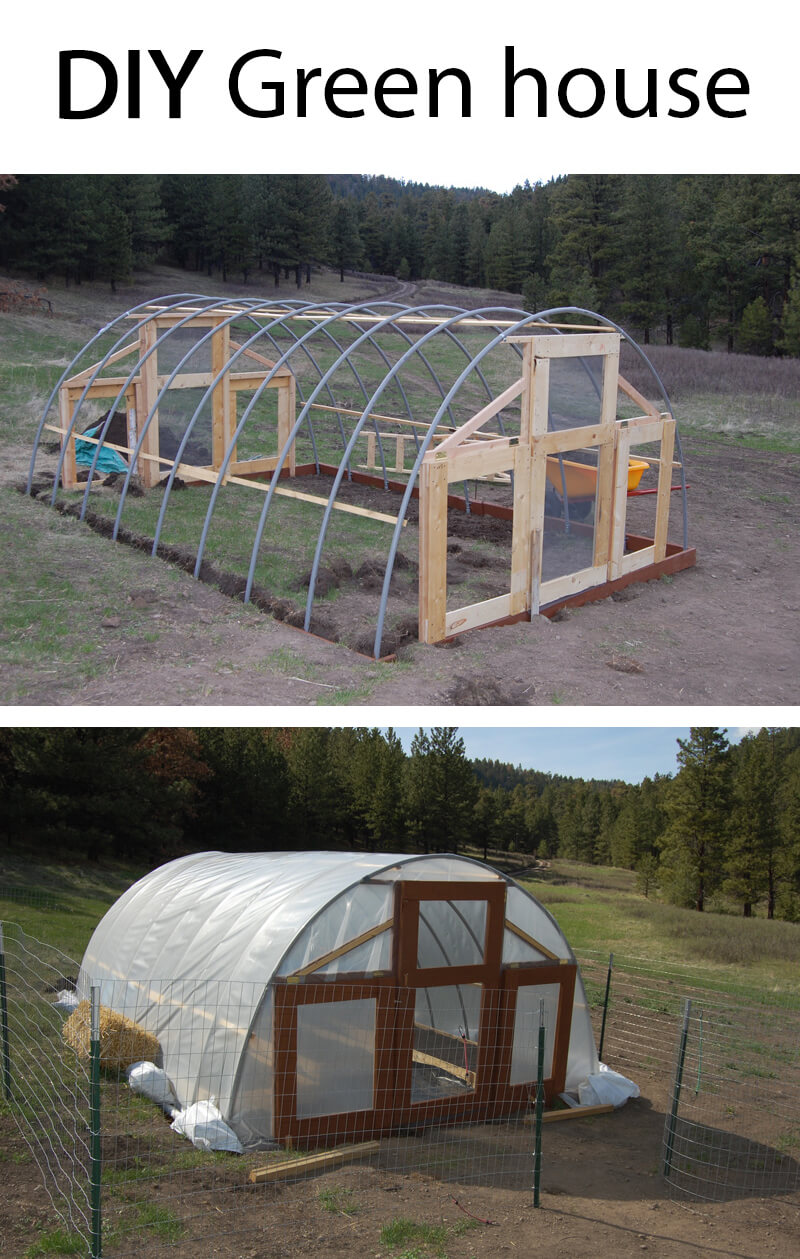 Large Green House Idea; Perfect for a Garden