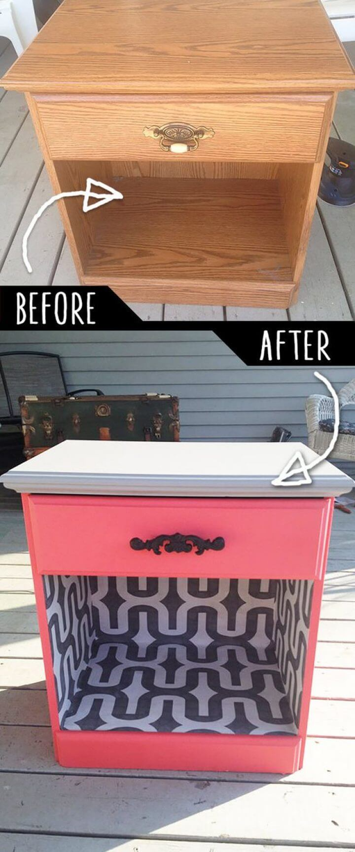 Mod Makeover Repainted Cabinet Cubby