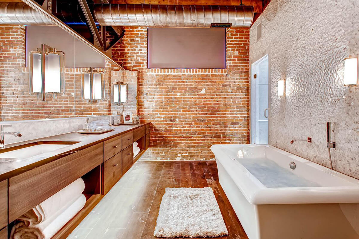 Chic Modern Industrial Bathroom