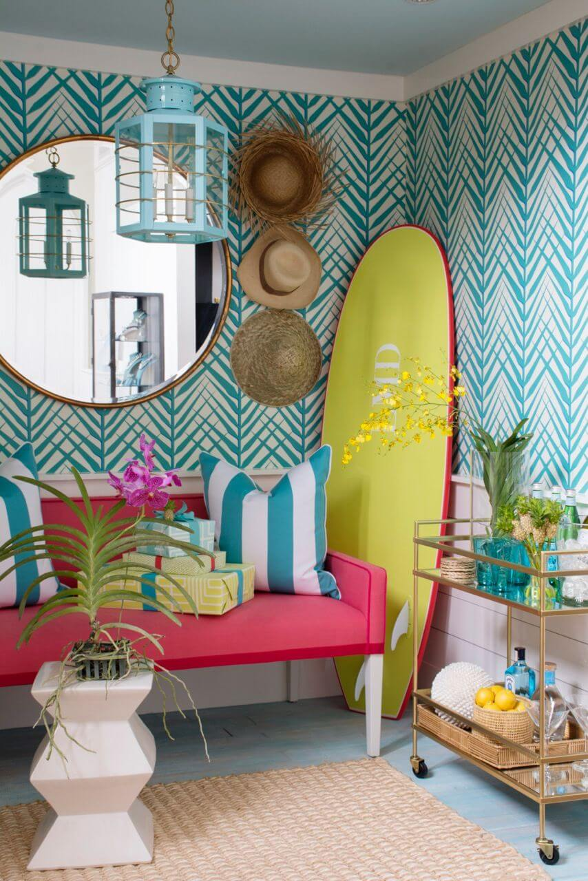 Surfer's Delight with Brightly Colored Accents