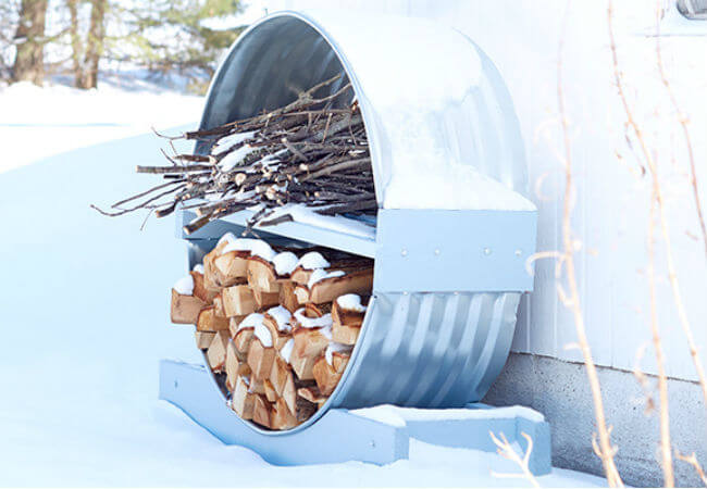 Round Storage Rack for Firewood and Kindling
