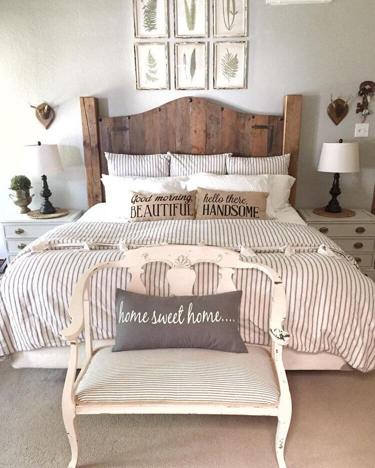 39 best farmhouse bedroom design and decor ideas for 2018 for Farmhouse style bedroom