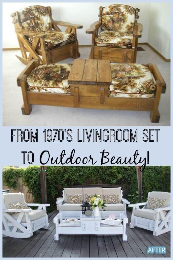 Seventies-Sleek Furniture Makeover Ideas