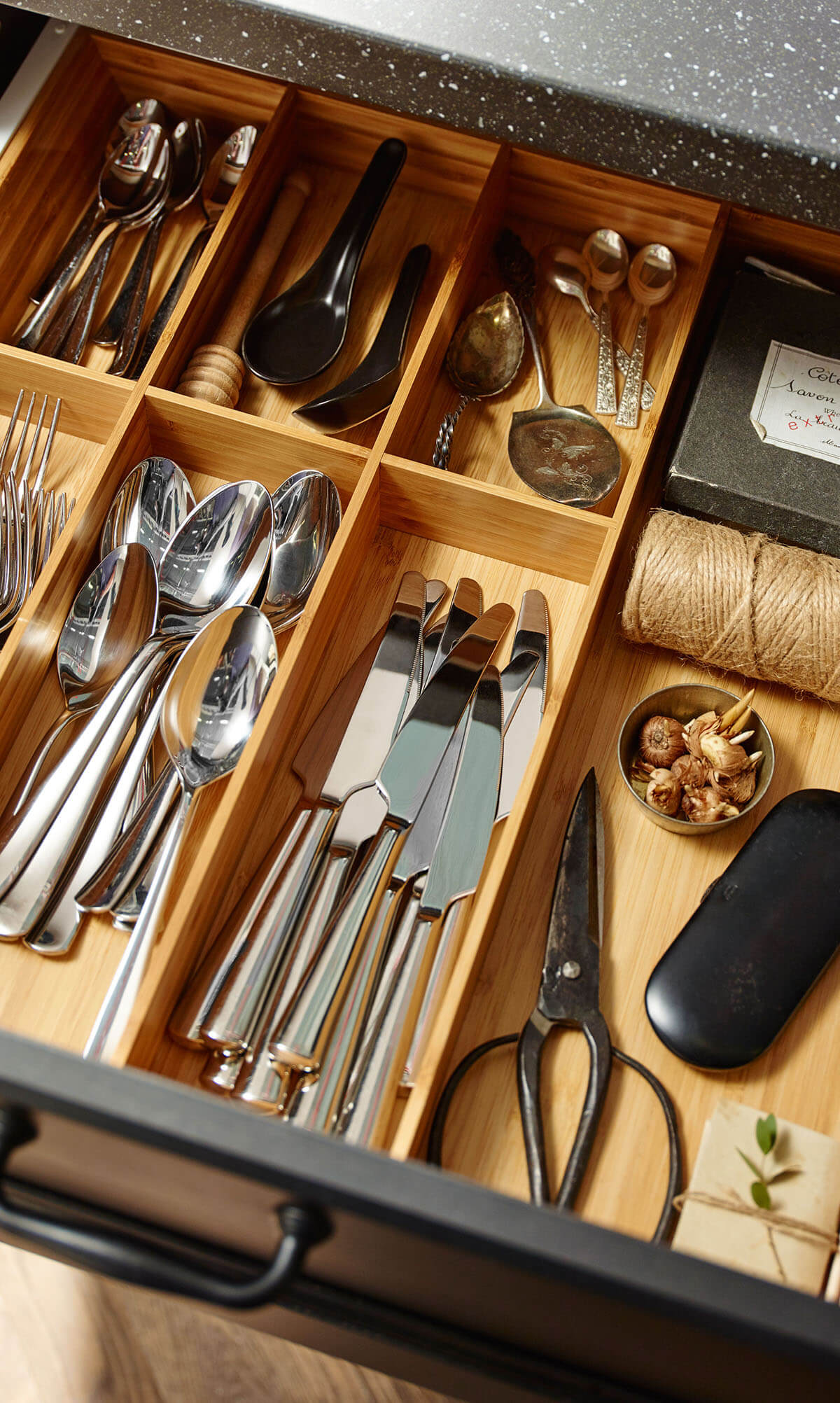 Wooden Dividers to Organize Your Utensil Drawers