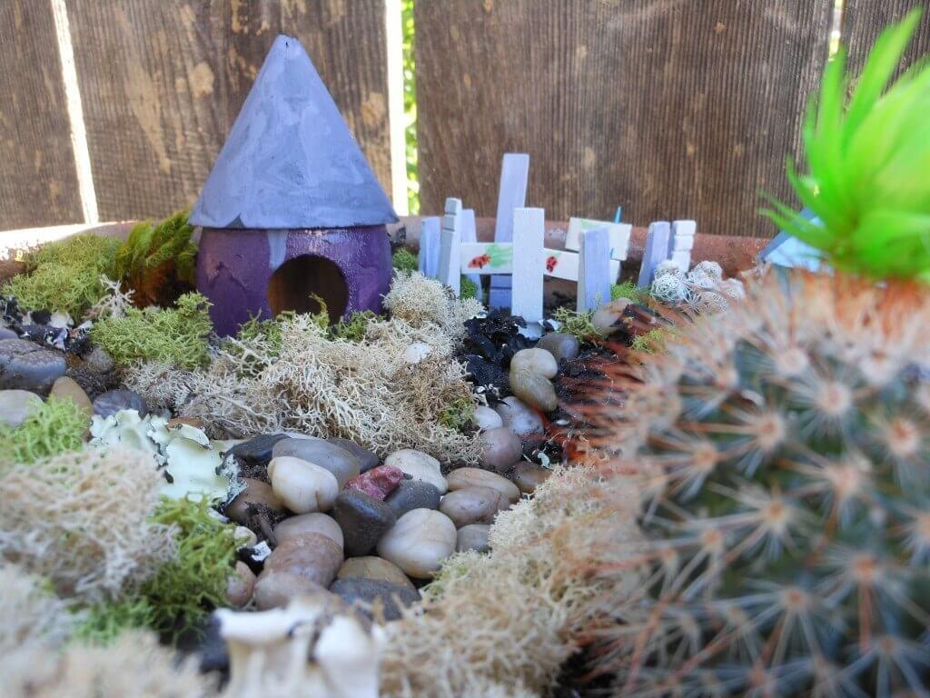 Bird House Fairy Vegetable Garden