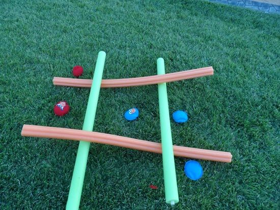 Pool Noodle Tic Tac Toe