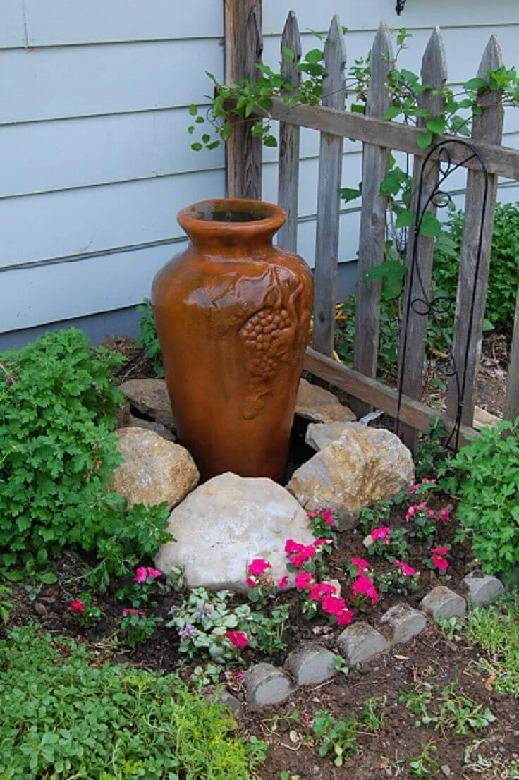 Peaceful and Elegant Ceramic Urn Water Feature